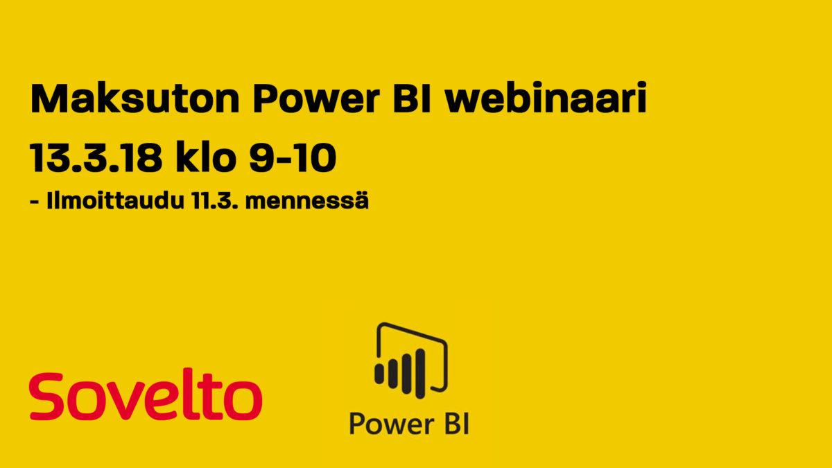 Webinaari: Tiedon analysointi ja raportointi Power BI:llä