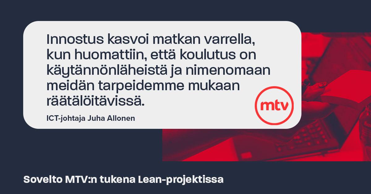 Sovelto MTV:n tukena Lean-projektissa