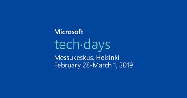 Sovelto mukana Microsoft TechDays 2019 -tapahtumassa