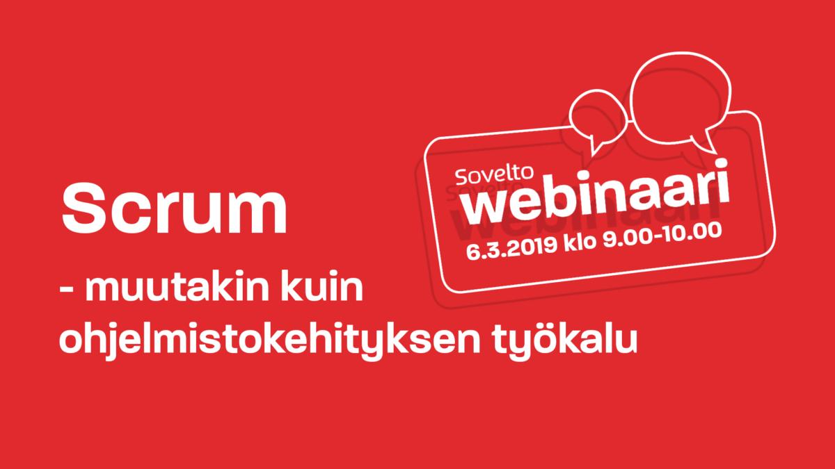 Webinaaritallenne: Scrum – muutakin kuin ohjelmistokehityksen työkalu