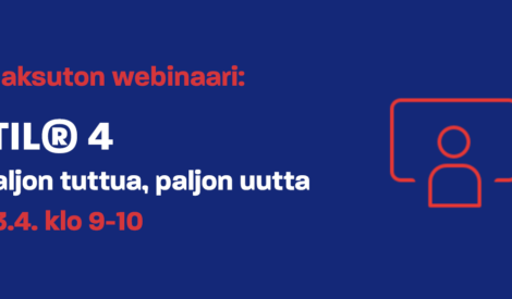 Webinaari: ITIL® 4 – Paljon tuttua, paljon uutta 23.4. klo 9-10