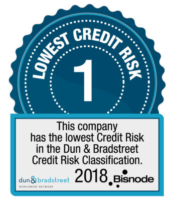 The lowest credit risk in DnB credit risk classification.