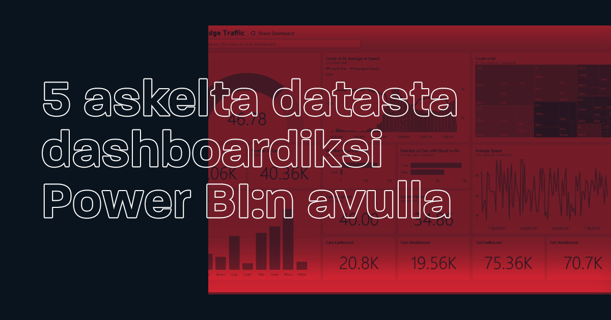 5 askelta datasta dashboardiksi Power BIn avulla