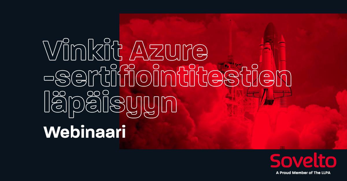 Webinaaritallenne: Vinkit Azure-sertifiointitestin läpäisyyn